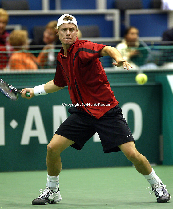 20040218, Rotterdam, ABNAMRO WTT, Hewitt in actie tegen Schuettler