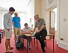 Sept. 4, 2012; Professor Patrick Dunn teaches in the London Centre...Photo by Matt Cashore/University of Notre Dame