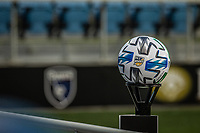 SAN JOSE, CA - SEPTEMBER 05: MLS Ball during a game between Colorado Rapids and San Jose Earthquakes at Earthquakes Stadium on September 05, 2020 in San Jose, California.
