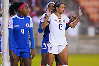 HOUSTON, TX - JANUARY 28: Lynn Williams #13 of the United States holds her position during a game between Haiti and USWNT at BBVA Stadium on January 28, 2020 in Houston, Texas.
