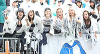 State College, PA - 09/12/2015:  Penn State students and fans were still enthusiastic despite the dreary weather. Penn State defeated Buffalo by a score of 27-14 at rainy Beaver Stadium in University Park, PA.<br /> <br /> Photos by Joe Rokita / JoeRokita.com