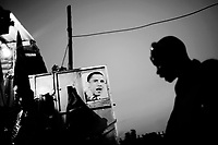 A poster of Barack Obama, candidate for US President, in Kibera.