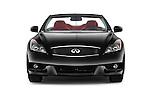Car photography straight front view of a 2015 Infiniti Q60 Ipl 2 Door Convertible