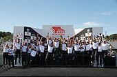 Honda celebration, podium, champions