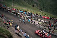 Romain Bardet (FRA/AG2R-La Mondiale) & Alejandro Valverde (ESP/Movistar) up the brutal Col du Portet (HC/2250m/16km at 8.7%/Souvenir Henri Desgrange) in this historically short stage (only 65km)<br /> <br /> Stage 17: Bagnères-de-Luchon > Saint-Lary-Soulan (65km)<br /> <br /> 105th Tour de France 2018<br /> ©kramon