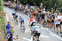12th September 2021: Trento, Trentino–Alto Adige, Italy: UEC Road European Mens Elite Cycling Championships; Benoit Cosnefroy (FRA) in the pack