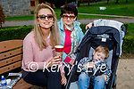 Enjoying a coffee and a chat in the Listowel town park on Saturday, l to r: Helena D'Alessandro, Mairead Walsh and little Sophie D'Alessandro
