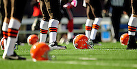 11 October 2009: The Cleveland Browns warm up prior to a game against the Buffalo Bills at Ralph Wilson Stadium in Orchard Park, New York. The Browns defeated the Bills 6-3 for Cleveland's first win of the season...Mandatory Photo Credit: Ed Wolfstein Photo