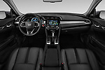 Stock photo of straight dashboard view of a 2019 Honda Civic Elegance 4 Door Sedan