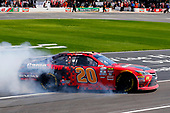 2017 NASCAR Xfinity Series<br /> My Bariatric Solutions 300<br /> Texas Motor Speedway, Fort Worth, TX USA<br /> Saturday 8 April 2017<br /> Erik Jones, Game Stop/ GAEMS Toyota Camry celebrates his win with a burnout <br /> World Copyright: Russell LaBounty/LAT Images<br /> ref: Digital Image 17TEX1rl_2554
