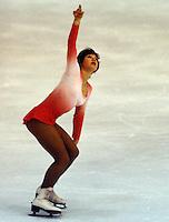 Denise Biellmann of Switzerland competes at the 1978 World Figure Skating Championships in Ottawa, Canada. Photo copyright Scott Grant