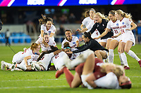 Stanford, CA - December 8, 2019: Team, Katie Meyer, Sophia Smith at Avaya Stadium. The Stanford Cardinal won their 3rd National Championship, defeating the UNC Tar Heels 5-4 in PKs after the teams drew at 0-0.