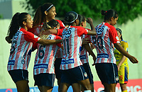 BARRANQUILLA - COLOMBIA, 25-10-2020: Atletico Junior y Deportivo Pasto, durante partido por la fecha 2 de la Liga Femenina BetPlay DIMAYOR 2020 jugado en el estadio Romelio Martinez en la ciudad de Barranquilla. / Atletico Junior and Deportivo Pasto, during a match for the 2nd date of the Women's League BetPlay DIMAYOR 2020 played at the Romelio Martinez stadium in Barranquilla city. / Photo: VizzorImage / Jairo Cassiani / Cont.