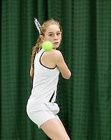 15-3-09, Rotterdam, Nationale Overdekte Jeugdkampioenschappen 12 en 18 jaar, Winnaar meisjes 12 jaar Britt Schreuder