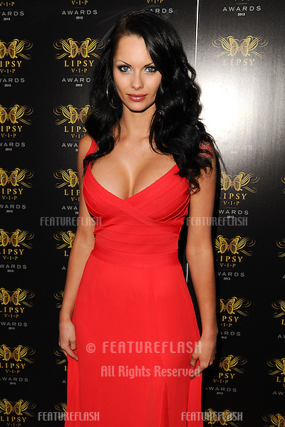 Jessica Jane Clement  arriving for the Lipsy Fashion Awards,  at Dstrkt, London. 29/05/2013 Picture by: Steve Vas / Featureflash