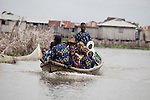 In Benin, the local populations of Ganvie and Cotonou travel back and forth by boat.