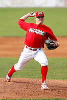 July 19, 2009:  Pitcher Eric Fornataro of the Batavia Muckdogs during a game at Dwyer Stadium in Batavia, NY.  The Muckdogs are the NY-Penn League Short-Season Class-A affiliate of the St. Louis Cardinals.  Photo By Mike Janes/Four Seam Images
