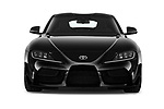 Car photography straight front view of a 2019 Toyota GR-Supra Sport 2 Door Coupe
