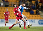 St Johnstone v Aberdeen…13.12.17…  McDiarmid Park…  SPFL<br />David Wotherspoon is tackled by Kenny McLean<br />Picture by Graeme Hart. <br />Copyright Perthshire Picture Agency<br />Tel: 01738 623350  Mobile: 07990 594431