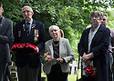 """11/06/16<br /> <br /> L/R: Stanley Shaw (cousin), Dorris Innes, (niece) and Sandra Palmer (cousin).<br /> <br /> One hundred years have passed since Private Charles Gordon Shaw was fatally wounded in the Battle of the Somme, but today is the first day his family have been able to grieve at his graveside.<br /> <br /> Full Story: https://fstoppressblog.wordpress.com/private_charles_shaw/<br /> <br /> <br /> That's because his grave was """"lost"""" during a changeover in church vicars and when the Commonwealth War Graves Commission tried to place a headstone on his plot in 1926, the new vicar was unable to tell them where the body was buried.<br /> <br /> But today, thanks to detective work by his  niece, 83-year-old Dorris Innes from Spondon, together with an amateur historian who located the 'lost' grave, Private Shaw's family were finally able to pay their respects to the war hero, with a commemorative service at his grave, exactly 100 years to the day since he was buried at Christ Church in Stonegravels, Chesterfield.<br /> <br /> All Rights Reserved, F Stop Press Ltd."""