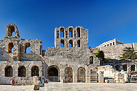 The Odeon of Herodes Atticus also known as Herodeon (161  AD), Greece