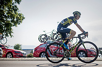 Jens Keukeleire (BEL/Orica Scott) making his way to the start<br /> <br /> stage 7: Aoste > Alpe d'Huez (168km)<br /> 69th Critérium du Dauphiné 2017
