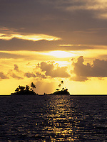 Sunset over the Islands