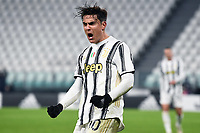 3rd January 2021, Allianz Stadium, Turin Piedmont, Italy; Serie A Football, Juventus versus Udinese; Goal celebration from Paulo Dybala as he scores for 4-1 in the 93rd minute