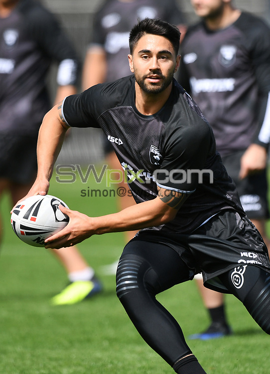 Shaun Johnson.<br /> Kiwis Rugby League training at Mt Smart Stadium ahead of the upcoming test match against the Australian Kangaroos this weekend. Auckland, New Zealand. Monday 8 October 2018. © Copyright photo: Andrew Cornaga / www.photosport.nz