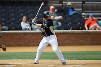Nick Bisplinghoff (39) of the Wake Forest Demon Deacons at bat against the Miami Hurricanes at Wake Forest Baseball Park on March 22, 2015 in Winston-Salem, North Carolina.  The Demon Deacons defeated the Hurricanes 10-4.  (Brian Westerholt/Four Seam Images)