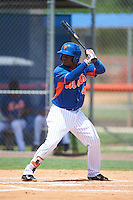GCL Mets shortstop Oliver Pascual (48) at bat during a game against the GCL Marlins on August 12, 2016 at St. Lucie Sports Complex in St. Lucie, Florida.  GCL Marlins defeated GCL Mets 8-1.  (Mike Janes/Four Seam Images)
