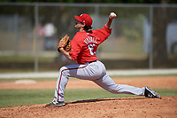 Washington Nationals pitcher Matt Tindall (61) delivers a pitch during a minor league Spring Training game against the St. Louis Cardinals on March 27, 2017 at the Roger Dean Stadium Complex in Jupiter, Florida.  (Mike Janes/Four Seam Images)