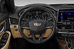 Car pictures of steering wheel view of a 2020 Cadillac CT5 Premium-Luxury 4 Door Sedan Steering Wheel