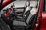 Front seat view of 2016 Fiat 500X-City-Look Pop-Star 5 Door Suv Front Seat  car photos