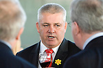 The Welsh rugby team celebrate winning the Grand Slam in the Six Nations rugby tournament at The Senydd in Cardiff Bay..Wales Coach Warren Gatland at the drinks reception.