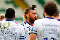 21st March 2021; Franklin's Gardens, Northampton, East Midlands, England; Premiership Rugby Union, Northampton Saints versus Bristol Bears; Nathan Hughes of Bristol Bears takes a breather after his team concede a try