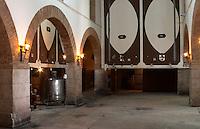 Fermentation tanks. Vallformosa, Vilobi, Penedes, Catalonia, Spain