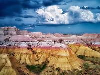 Colorful rocks at Badlands National Park, South Dakota