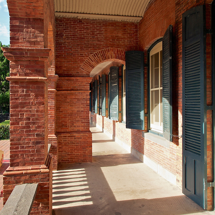 Colonnade Leading To The Rear Of The Consul's Residence In Tamsui, Taiwan.