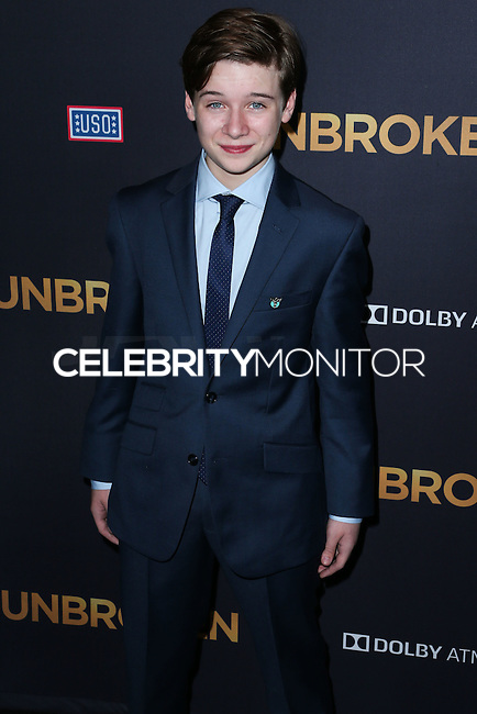 HOLLYWOOD, LOS ANGELES, CA, USA - DECEMBER 15: C.J. Valleroy arrives at the Los Angeles Premiere Of Universal Pictures' 'Unbroken' held at the Dolby Theatre on December 15, 2014 in Hollywood, Los Angeles, California, United States. (Photo by Xavier Collin/Celebrity Monitor)