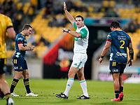 30th April 2021; Wellington, New Zealand;  Referee Ben O'Keefe.  Hurricanes versus  Highlanders, Super Rugby, Sky Stadium, Wellington New Zealand, Friday 30 April 2021.