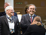 Dr. Theo Zwanziger, Michel Platini, Horst Hrubesch, The Final Germany-England, 06292009, U21 EURO 2009 in Sweden