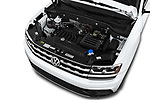 Car stock 2019 Volkswagen Atlas S 5 Door SUV engine high angle detail view