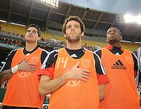 DC United midfielder Ben Olsen (center) Santino Quaranta (left) and Avery John (right).  DC United tied Toronto FC. 3-3 at  RFK Stadium, Saturday May 9, 2009.