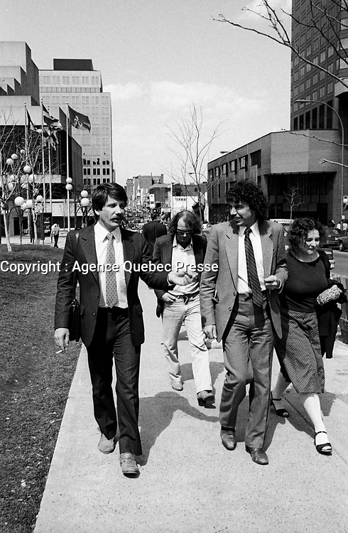 Montreal (QC) Canada- -MaY 6 1984  File Photo - RCM Party,  - Jean Dore, Mayor of Montreal