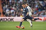 Juan Pablo Anor Acosta, Juanpi, (r) of Malaga CF in action during their La Liga 2016-17 match between Real Madrid and Malaga CF at the Estadio Santiago Bernabéu on 21 January 2017 in Madrid, Spain. Photo by Diego Gonzalez Souto / Power Sport Images
