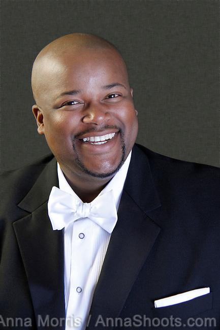 Portrait photographs of upcoming baritone opera star,Siyabulela Sikhokele Ntlale, (his (full name) taken by Anna Morris.
