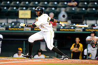 Bradenton Marauders outfielder Gregory Polanco #25 during a game against the St. Lucie Mets on April 12, 2013 at McKechnie Field in Bradenton, Florida.  St. Lucie defeated Bradenton 6-5 in 12 innings.  (Mike Janes/Four Seam Images)