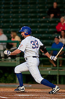 April 28 2010: Matthew Spencer (33) of the Daytona Beach Cubs during a game vs. the the Lakeland Flying Tigers at Jackie Robinson Ballpark in Daytona Beach, Florida. Daytona, the Florida State League High-A affiliate of the Chicago Cubs, lost the game against Lakeland, affiliate of the Detroit Tigers, by the score of 5-3  Photo By Scott Jontes/Four Seam Images
