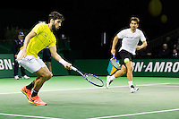 ABN AMRO World Tennis Tournament, Rotterdam, The Netherlands, 14 februari, 2017, Feliciano Lopez (ESP), Marc Lopez (ESP)<br /> Photo: Henk Koster